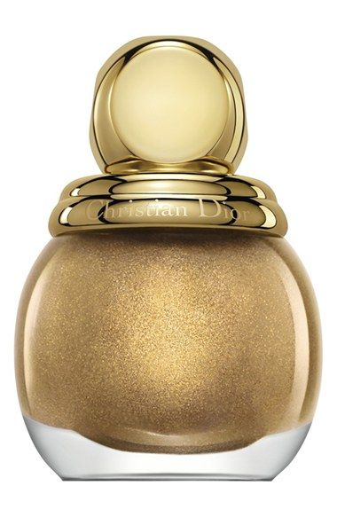 NORDSTROM 'DIORIFIC - VERNIS' NAIL ENAMEL (LIMITED EDITION) - love a gold polish - perfect for the holidays!