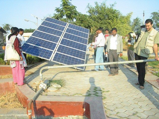 India S Huge Solar Water Pump Plan Highlights How Solar Could Leapfrog The Grid Solar Water Pump Solar Powered Water Pump Solar