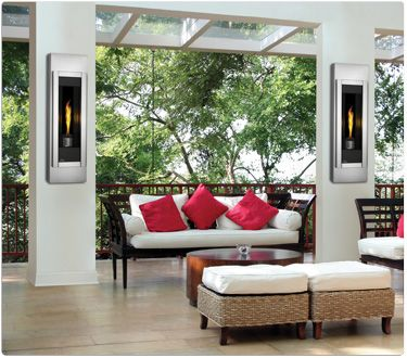 Napoleon Outdoor Torch™   Ultra Modern Outdoor Fireplace With A Slim,  Single, Torch Flame Design. From The Hottest Fireplace Trends For Fall And  Winter ...