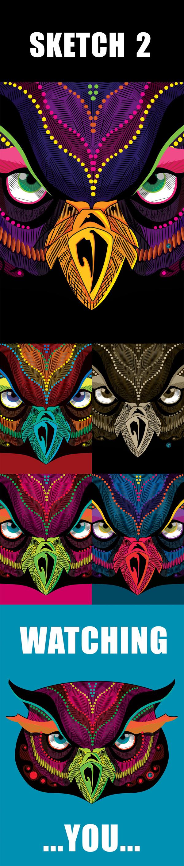 Colouring Experiment by yasmin mowafy, via Behance