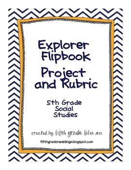 5th Grade Social Studies Explorers Flipbook Project 5th Grade Social Studies Social Studies Social Studies Classroom