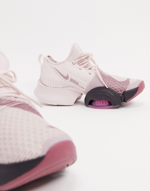 Nike Training Air Zoom SuperRep trainers in rose gold and ...