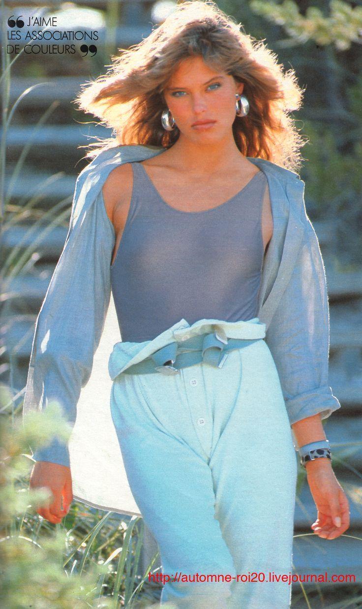 Best 80's Fashion Look : Elle France July 29th, 1985 'Renee: La belle americaine' Model: Renee ...
