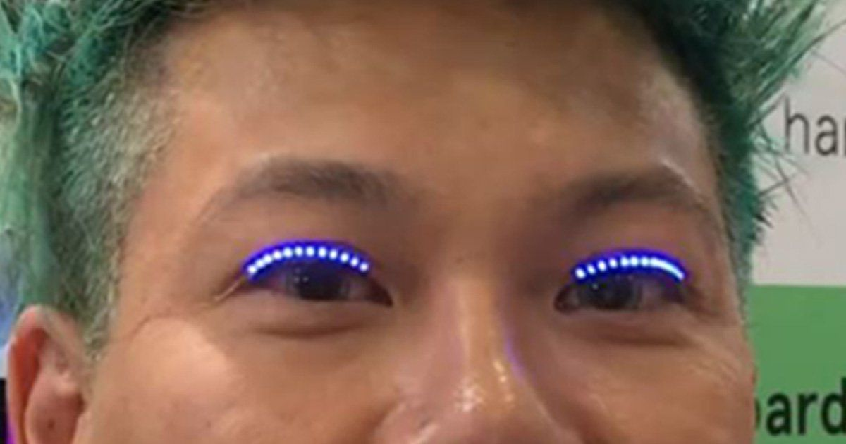 Get your glow sticks out: Colour-changing LED eyelashes ...