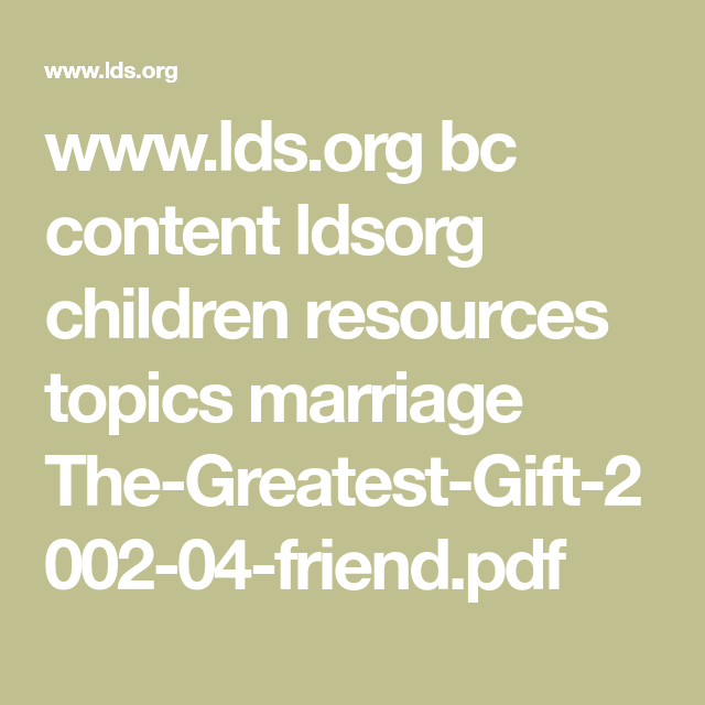 www.lds.org bc content ldsorg children resources topics marriage The ...