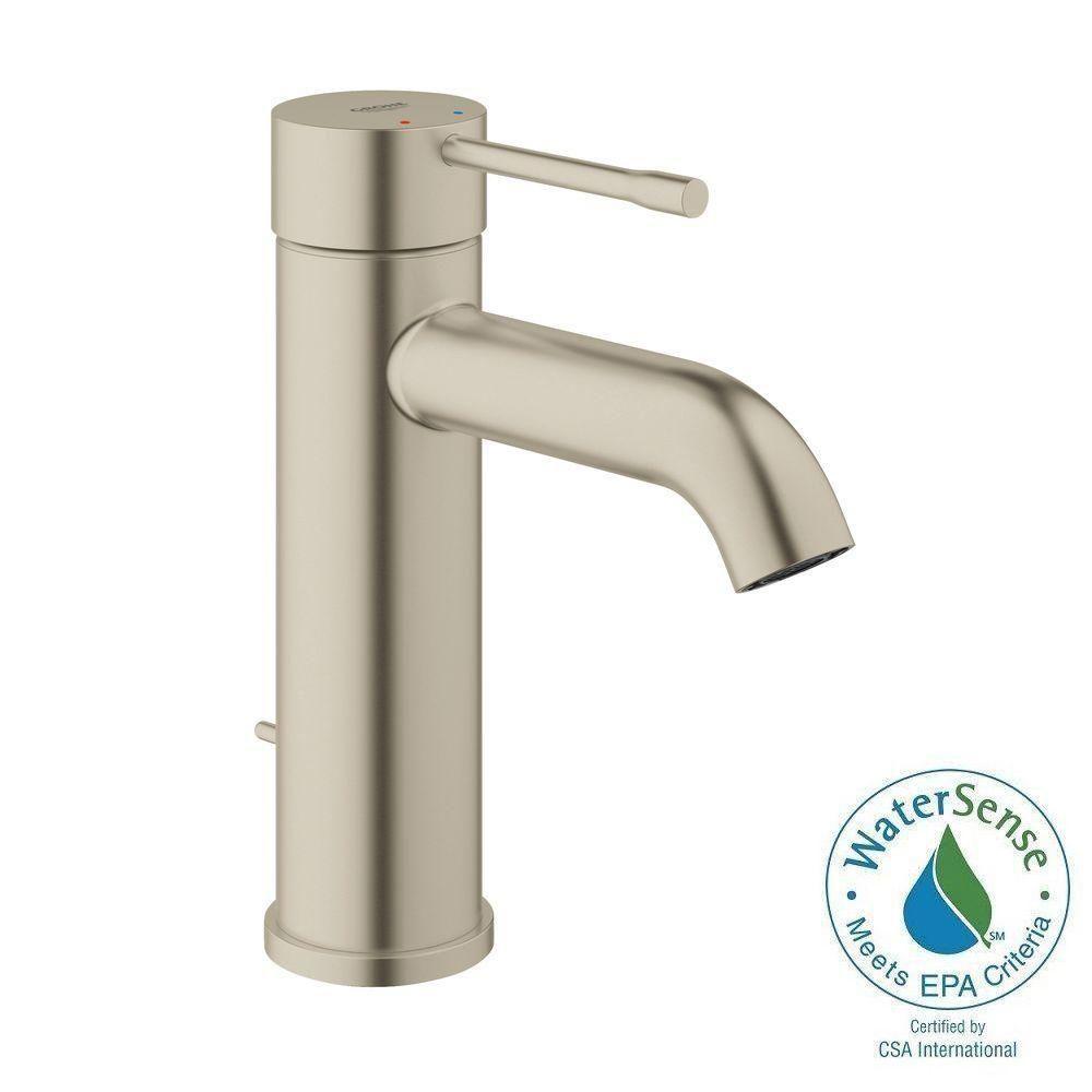 GROHE Essence New S-Size Single Hole Single-Handle Bathroom Faucet ...