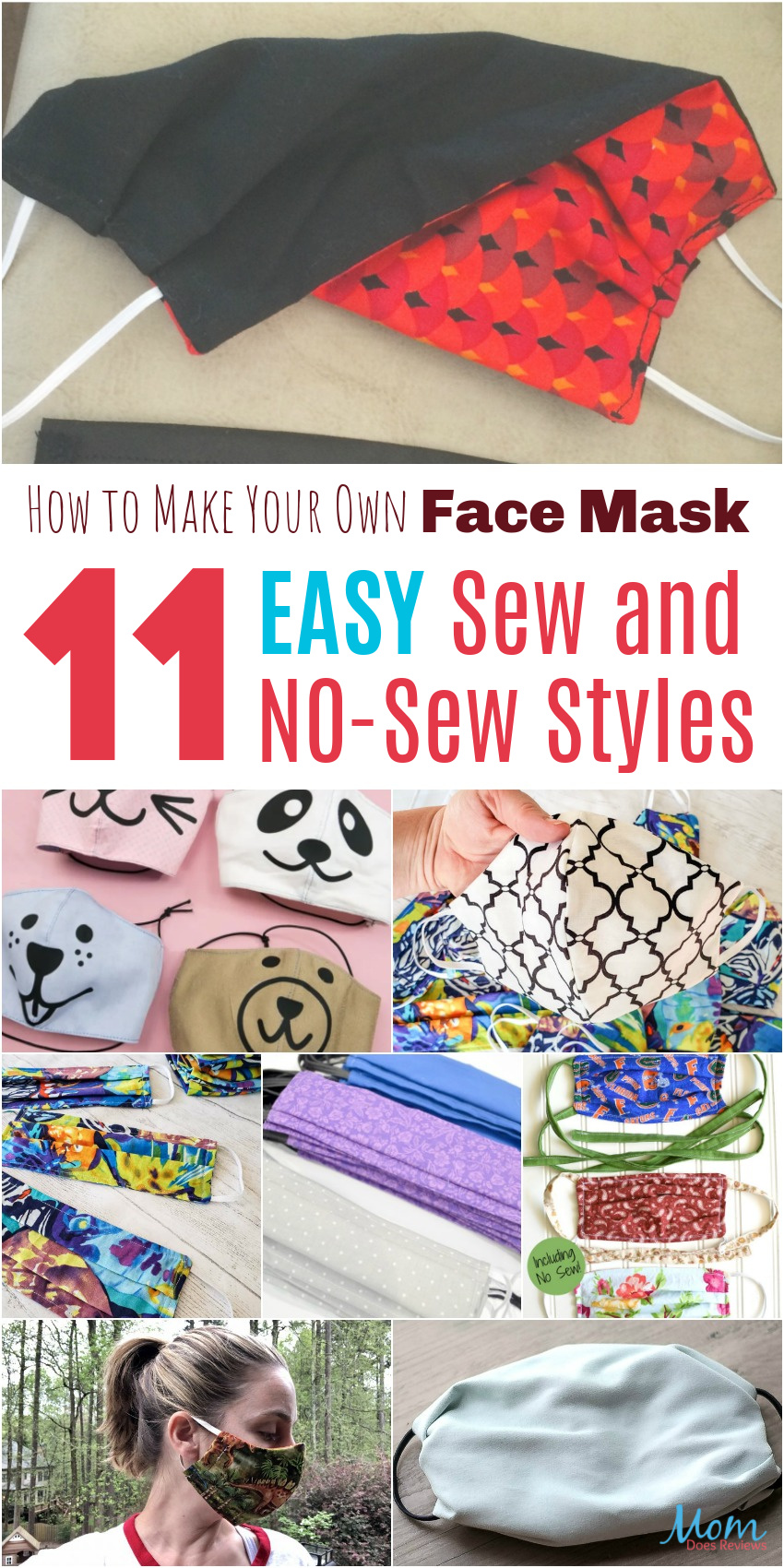 How to Make Your Own Homemade Face Masks : 11 Easy Sew and No-Sew Styles