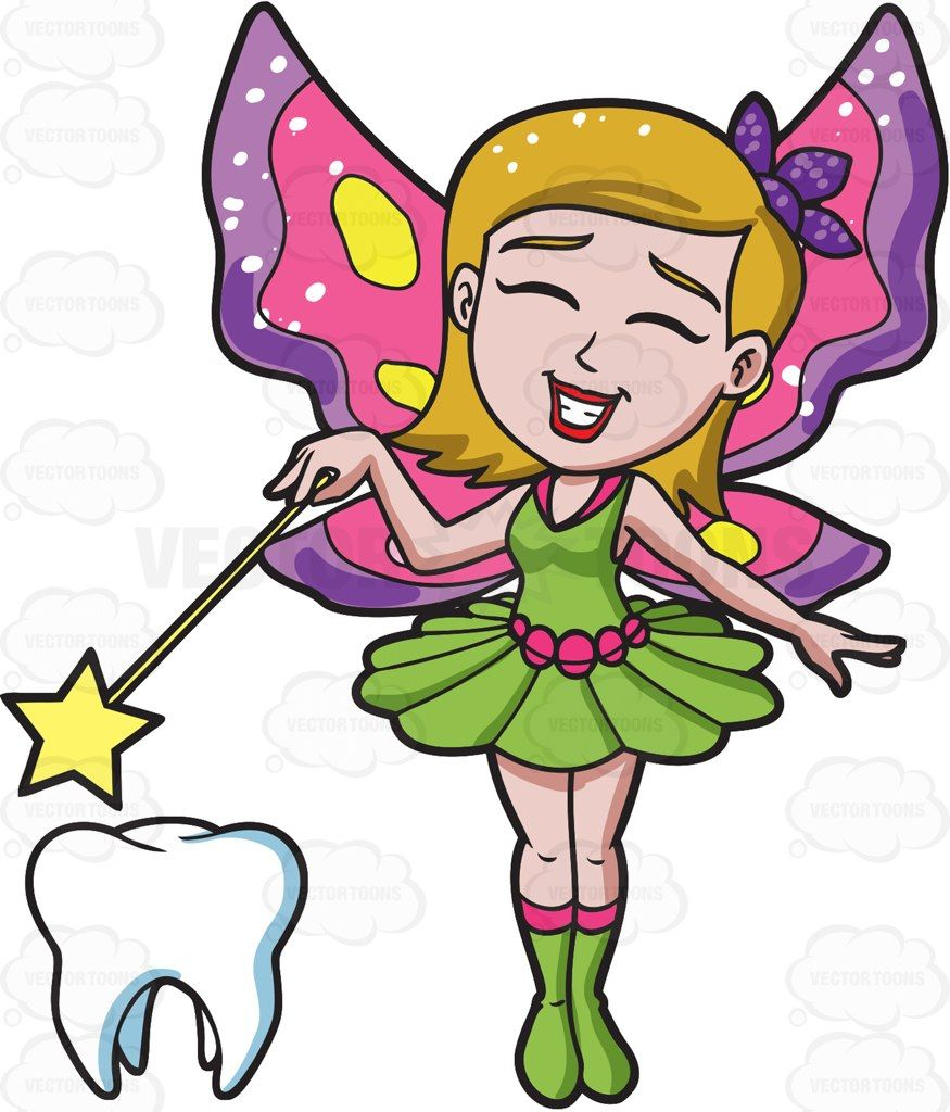 a happy fairy casting magic on a tooth pinterest tooth cartoon rh pinterest com tooth fairy clip art images tooth fairy clip art for boys