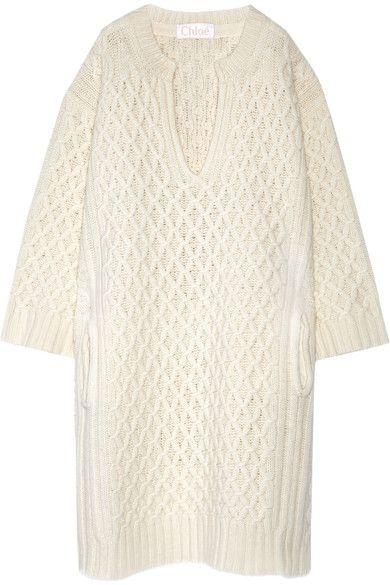 bc7f92ef584 CHLOÉ Robe-Pull Oversize En Laine Torsadée.  chloé  cloth  robes