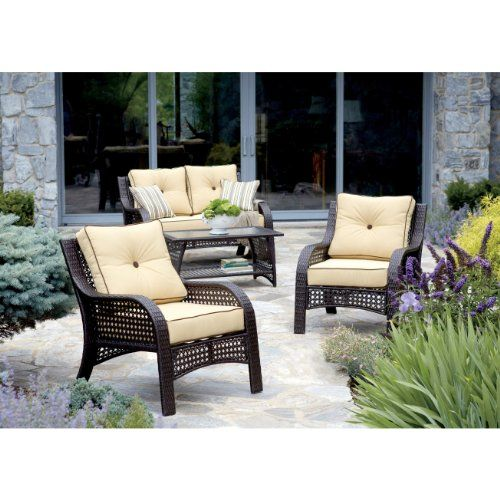 """""""NorthCape"""" Chicago Wicker 4 Piece Napa Chat Collection ..."""