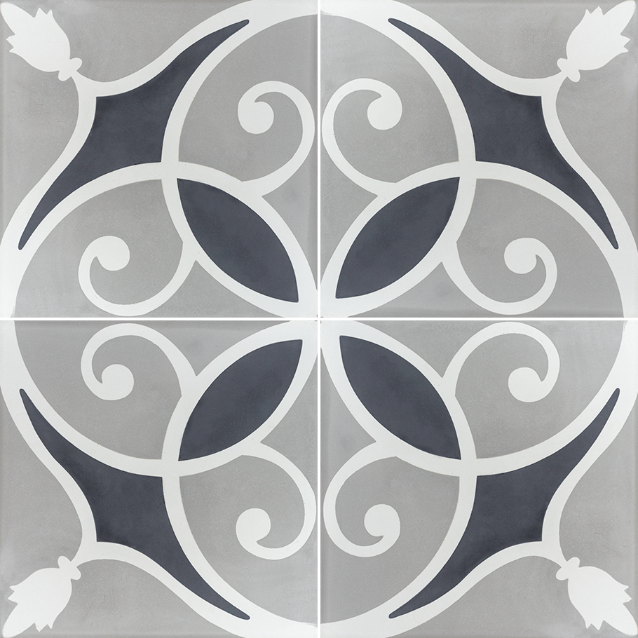 The Tile Districts Tassel Silver 4 Piece Layout Cement 8