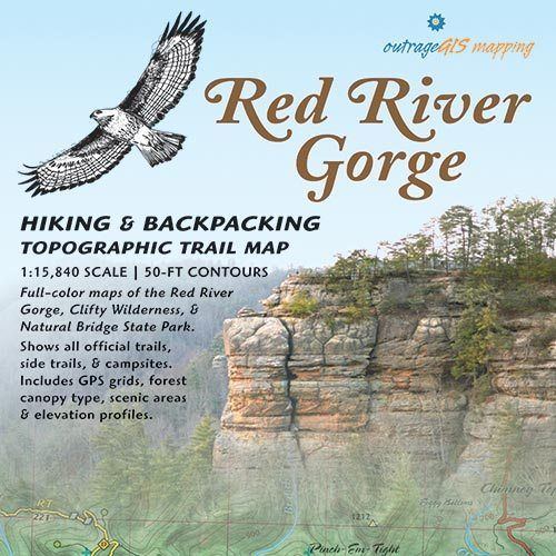 Red River Gorge Topographic Map.Book For Hiking Red River Gorge Ky Topographical Map Trails