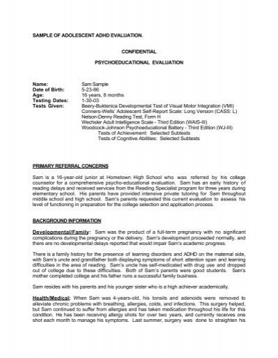 Psychoeducational Report Template 6 Professional Templates Report Template Templates Professional Templates