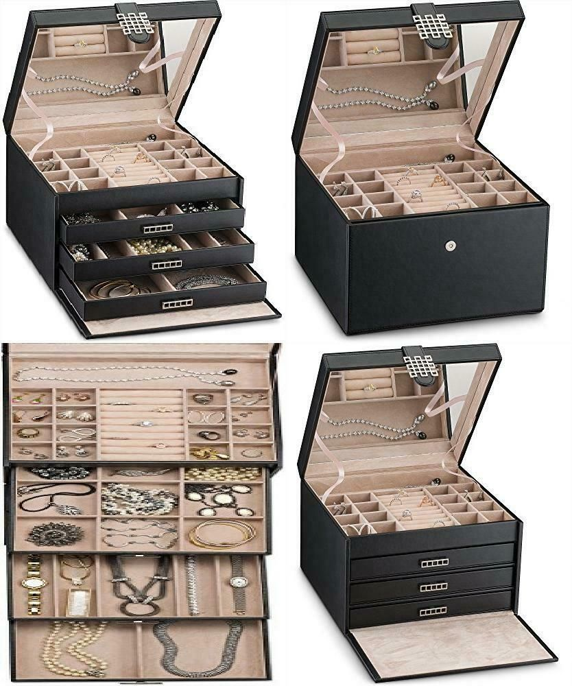 Details about womens gift extra large jewelry box