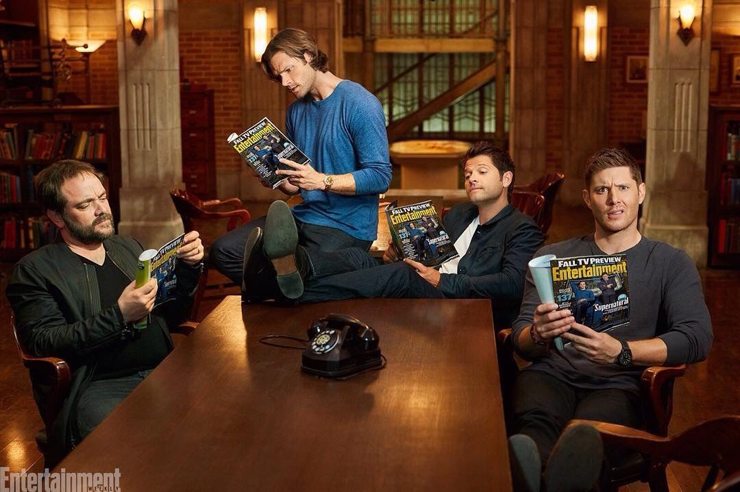 "missronniemakmissi: "" 'Supernatural' on the Cover of EW """