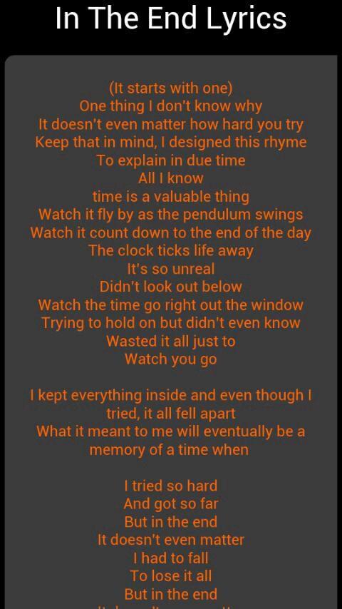 Linkin Park lyrics | Music in 2019 | Linkin park, Linkin park