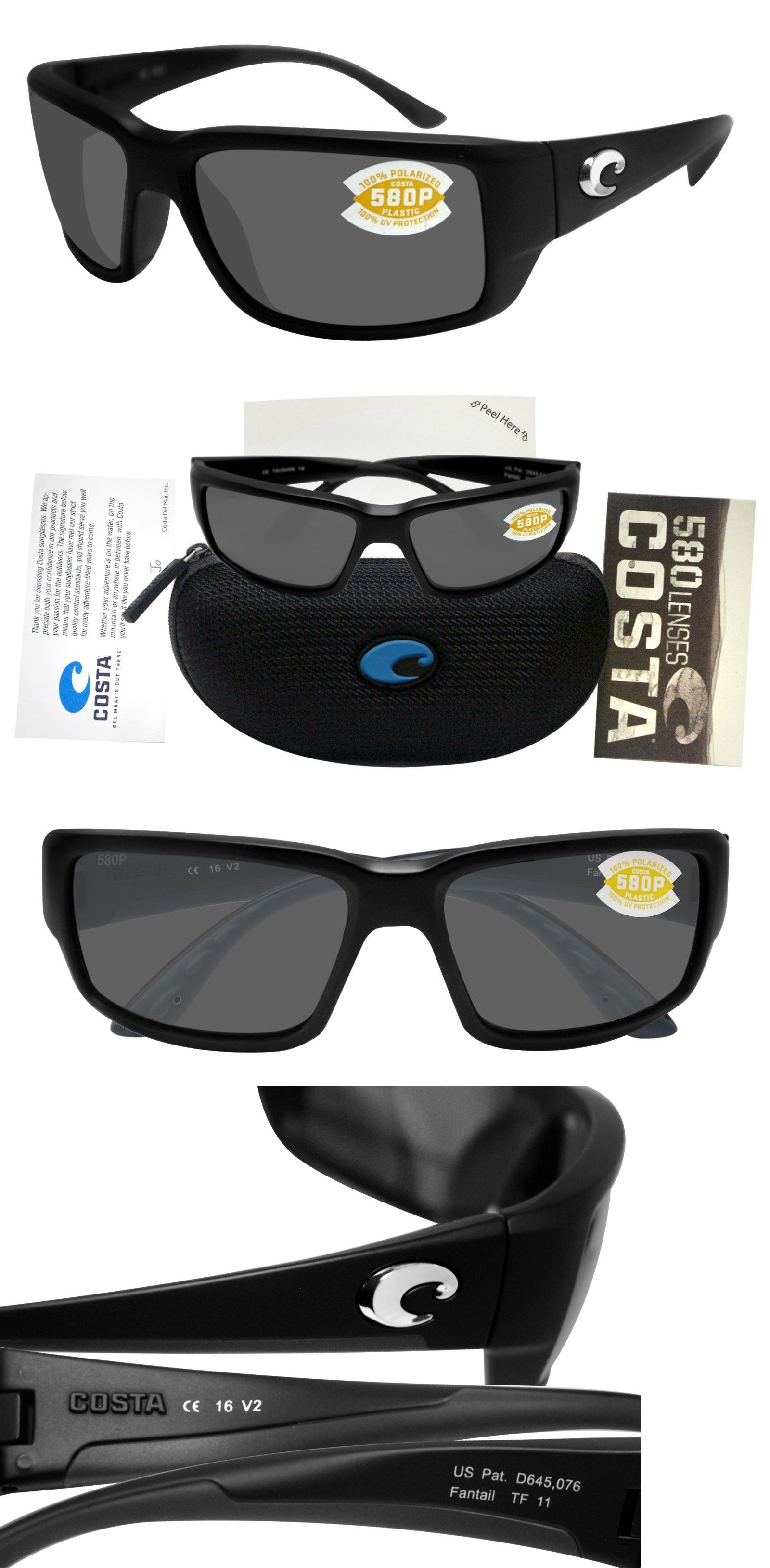 60dfc4ac80f0 Sunglasses 79720: Costa Del Mar Fantail Matte Black Frame Gray 580P Plastic  Lens New -> BUY IT NOW ONLY: $115.1 on eBay!