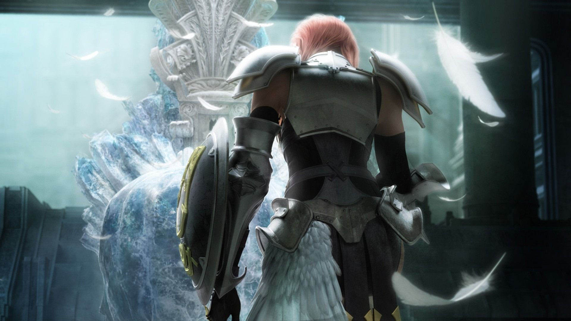 final fantasy xiii, characters, back - http://www.wallpapers4u.org/final-fantasy-xiii-characters-back/