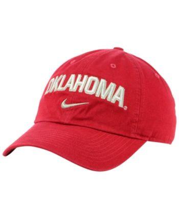 save off 38449 6f471 Nike Oklahoma Sooners H86 Wordmark Swoosh Cap - Red Adjustable