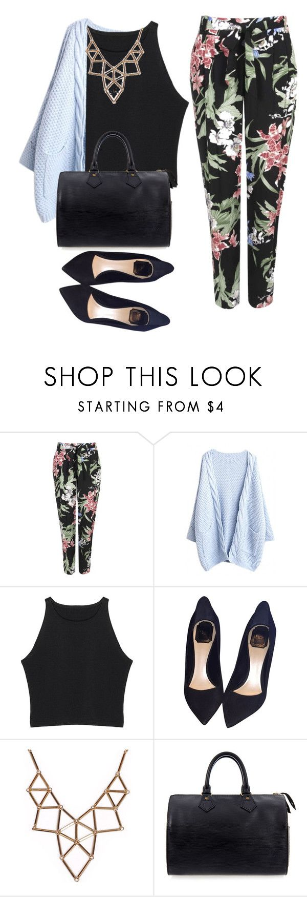 """Untitled #1269"" by littledeath11 ❤ liked on Polyvore featuring Wallis, Christian Dior, Chicnova Fashion and Louis Vuitton"