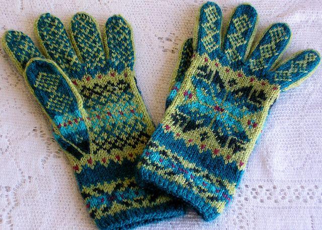 Ravelry Sweatergoddess Cunningsburg Star Gloves Patterns For