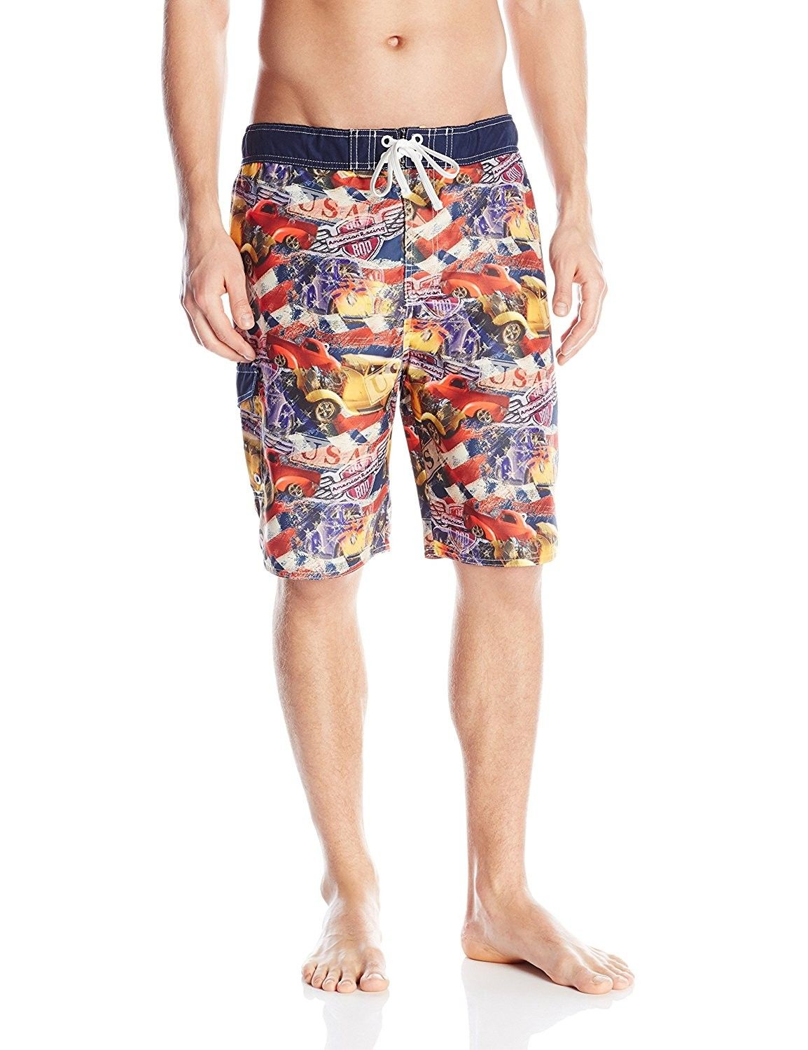 558fe42117 Men's Hot Rod USA Swim Trunks - Navy - C912C4BJ15T,Men's Clothing, Swim,  Trunks #men #clothing #fashion #style #gifts #outfits #Trunks