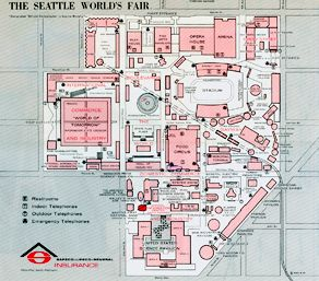 1962 Worlds Fair Site Map World Fairs And Exhibitions World S