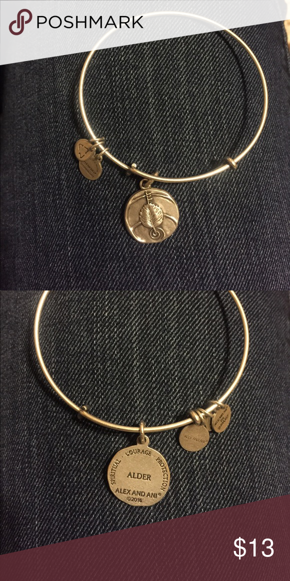 Alex and Ani 2016 Alder bracelet 2016 Alex and Ani Alder bracelet.  *DOESNT COME WITH BOX, CARD, OR BAG* Alex & Ani Jewelry Bracelets