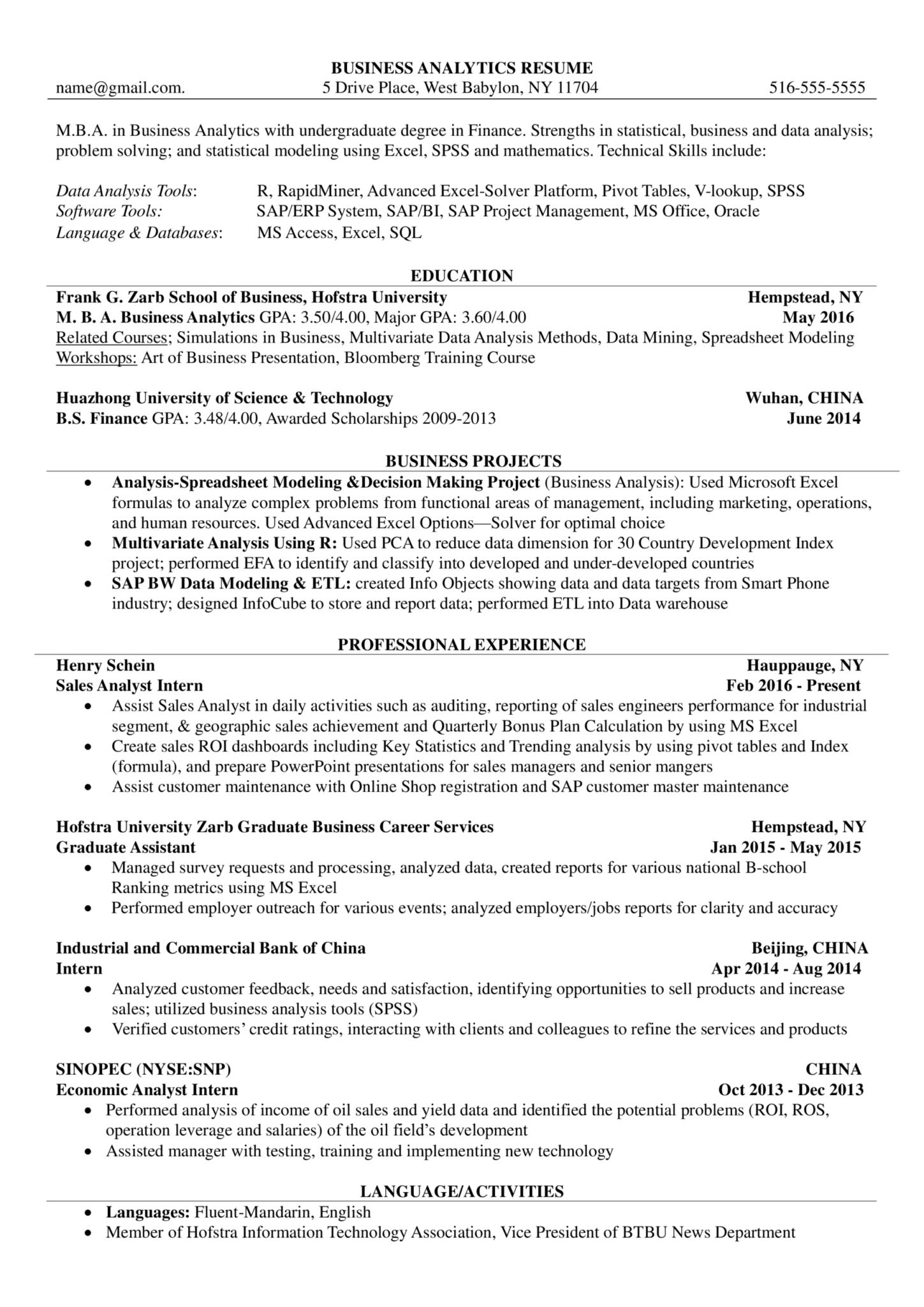 Business Analyst Internship Curriculum Vitae Templates At Regarding Business Analyst Report Te Business Analyst Curriculum Vitae Template Data Analysis Tools