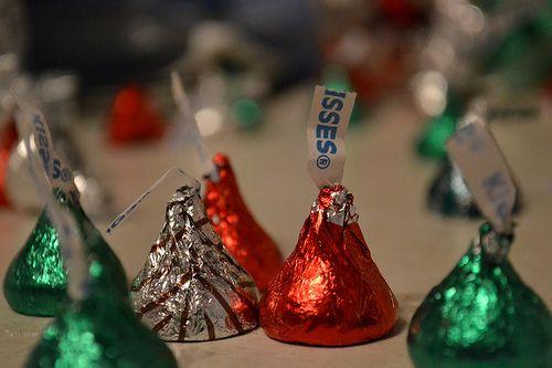 Christmas kisses.