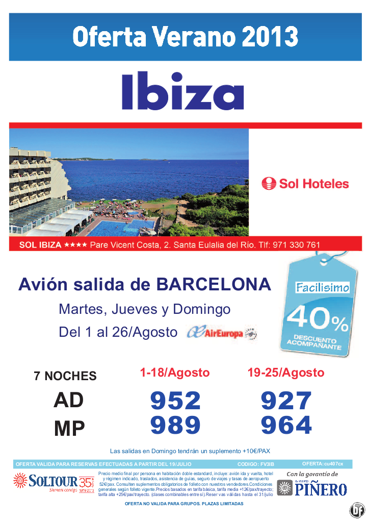 40% hotel Sol Ibiza salidas desde Barcelona - http://zocotours.com/40-hotel-sol-ibiza-salidas-desde-barcelona/