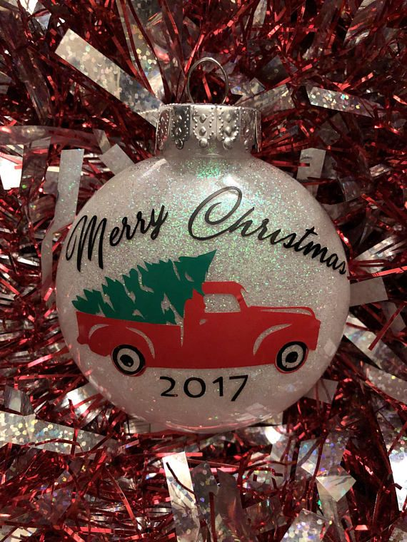 Little red truck christmas ornament in 2020 (With images