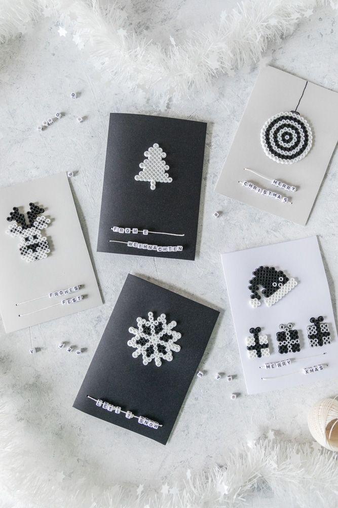 weihnachtskarten basteln mit b gelperlen weihnachten diy ideen inspiration christmas diys. Black Bedroom Furniture Sets. Home Design Ideas