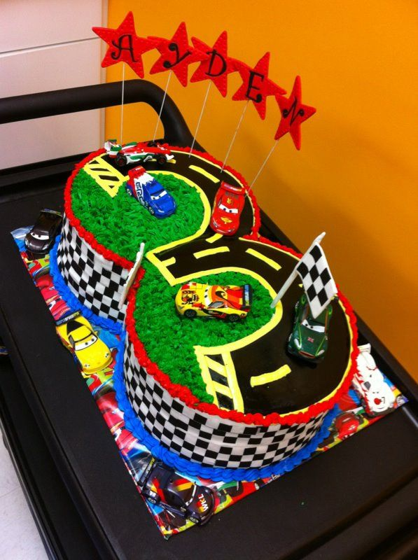 Awesome Cars Theme Birthday Cake With Images Cars Theme Birthday Party Funny Birthday Cards Online Overcheapnameinfo
