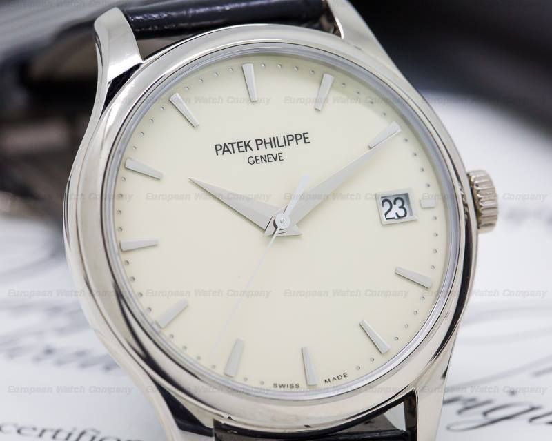 Patek Philippe 5227 G Calatrava 5227g 001 5227g 18k White Gold With An 18k White Gold Tang Buckle Automatic Calibe Patek Philippe 18k White Gold White Gold