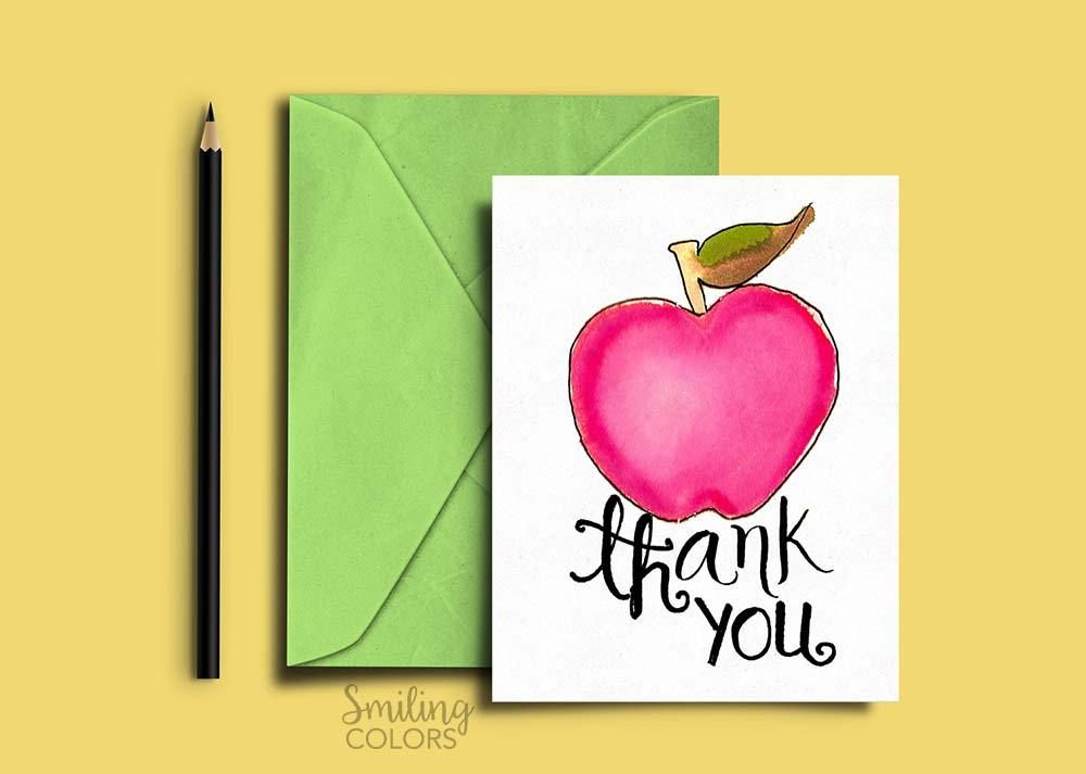 Free Printable Thank You Cards For Teachers And Teacher Assistants