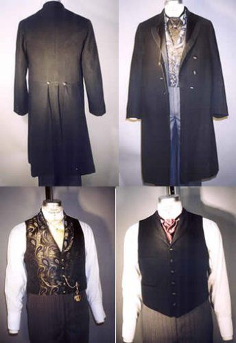 Men's Frock Coats Single and Double Breasted & Two Vests Pattern (1850 - 1915) $13.95