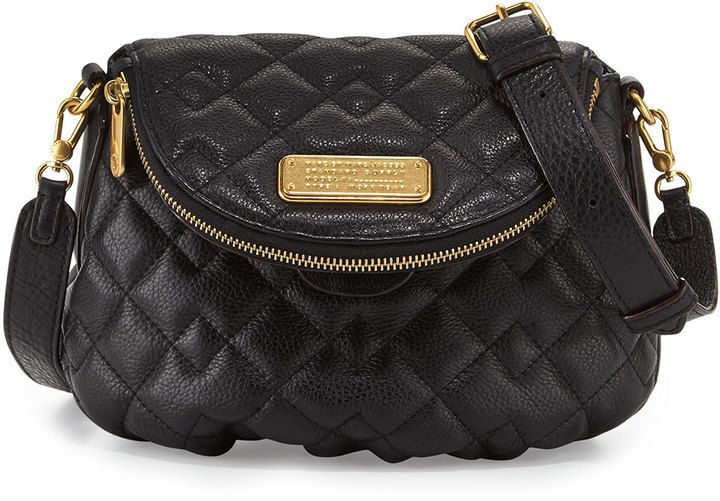 328 Black Quilted Leather Crossbody Bag Marc By Jacobs New Q Natasha Sold Neiman Marcus