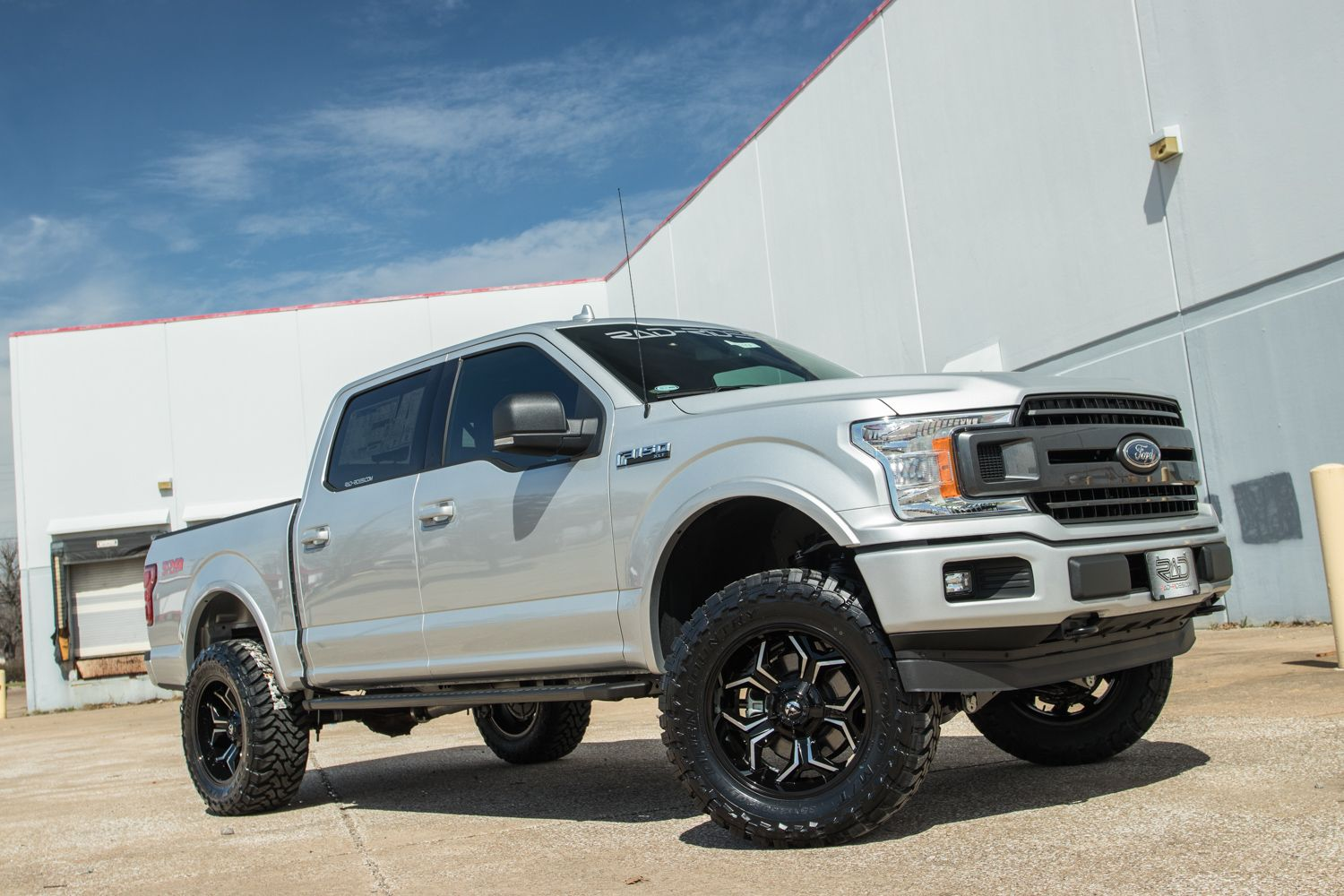 small resolution of lifted 4x4 2018 ford f 150 radx stage 2 silver custom truck rad rides