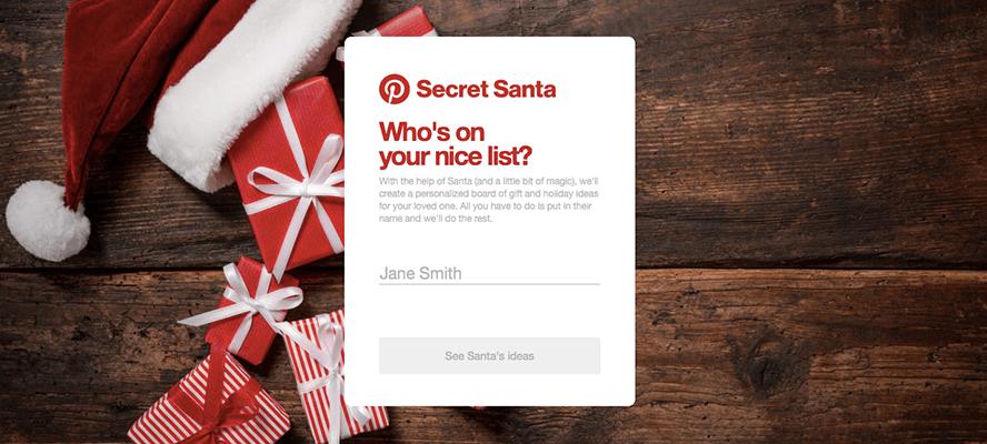 Pinterest Launches 'Secret Santa' Campaign to Drive