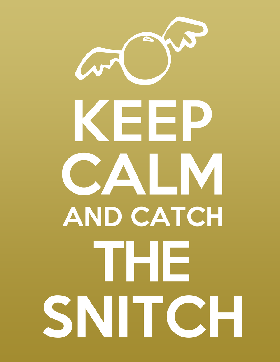 Keep Calm and Catch the Snitch   Movies & TV Shows   Pinterest ...
