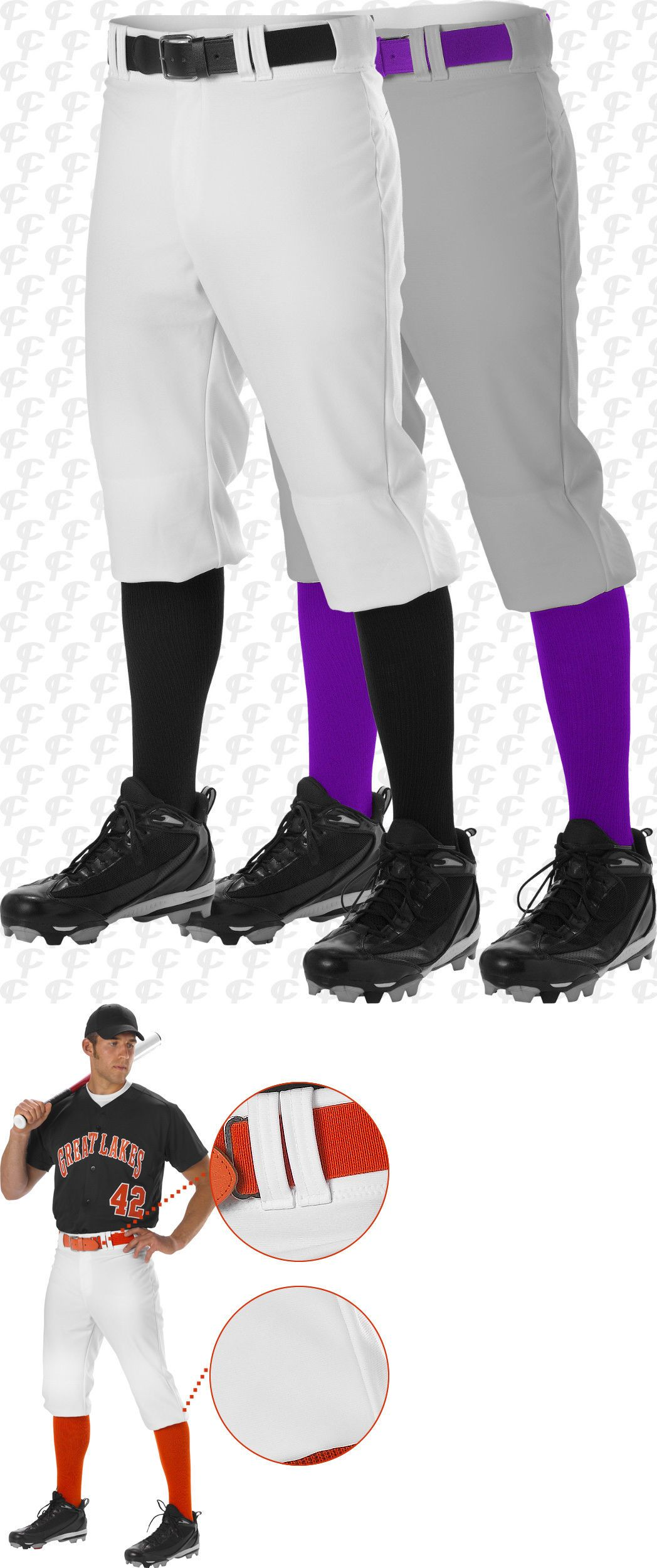 8d21b7160ac Baseball Pants 181337  Alleson Athletic Youth Boys Knicker Length Baseball  Pants Softball Pants 605Pkny -