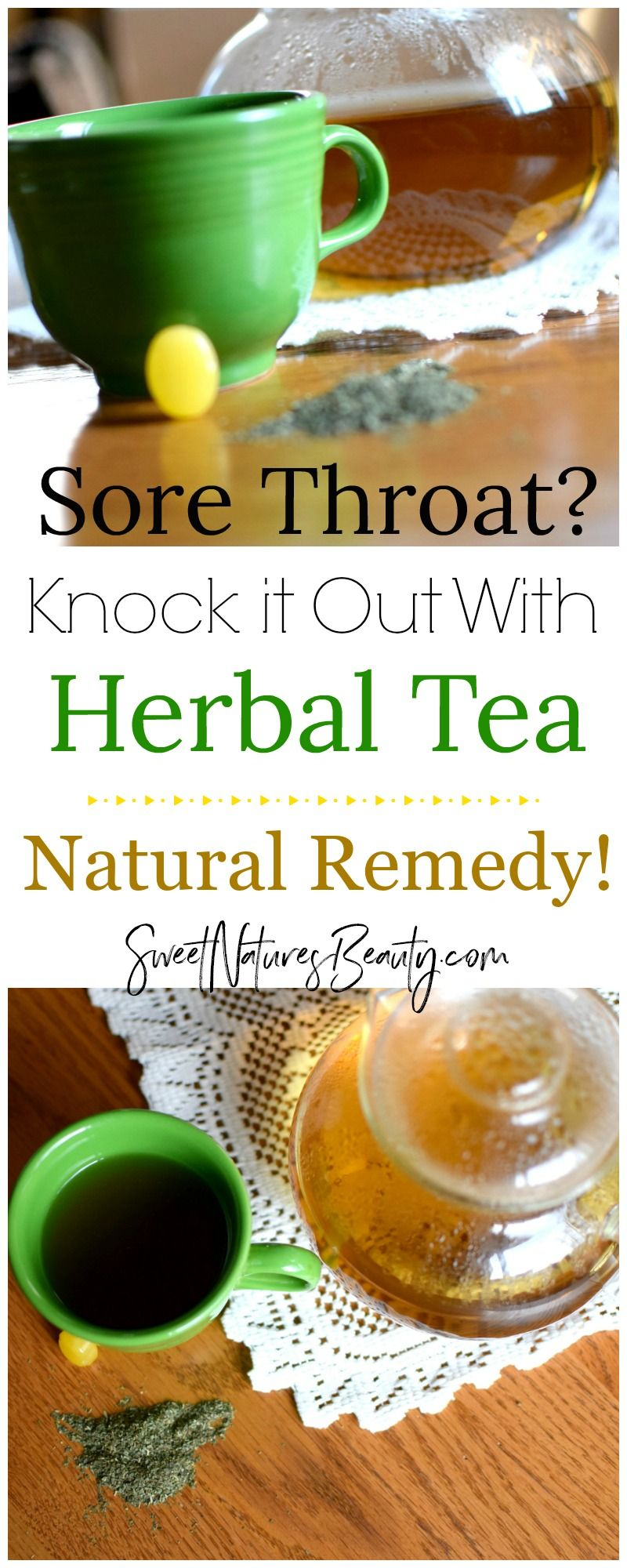 Try this At Home Remedy for a Sore Throat for an amazing natural remedy  that works! Click through to find the herbal remedy recipe.