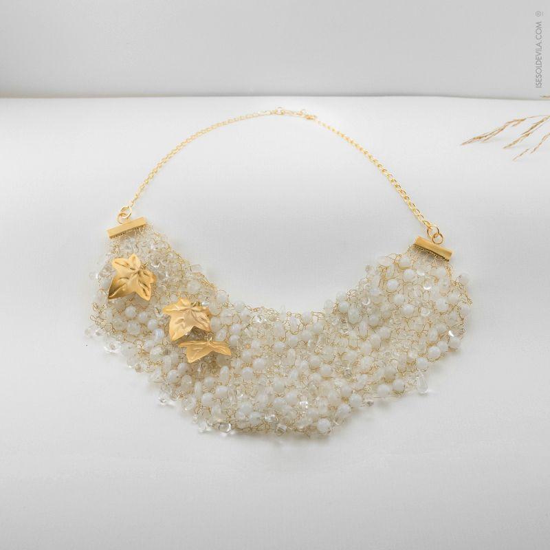 836761e7fdd0  Collar de hilo de plata bañado en oro