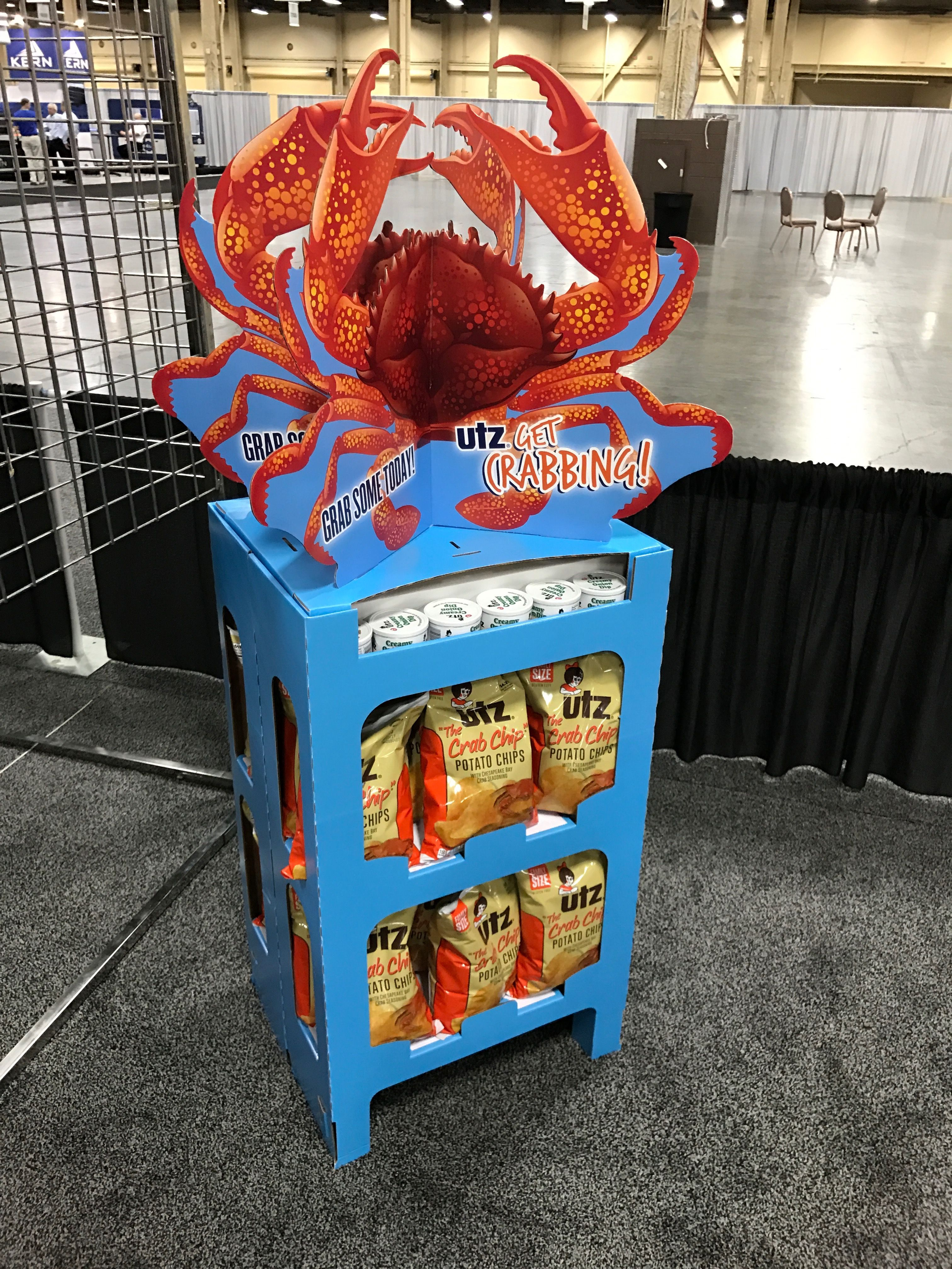 UTZ Crab Chips Free Standing Unit - Looking to get noticed