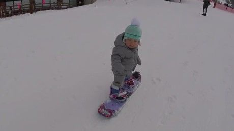 We may have a future Olympian on our hands -- at least that's what her parents are hoping for.