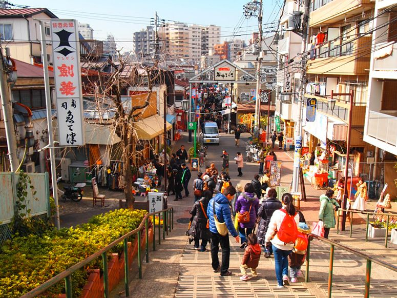 The main drag Yanaka Ginza, popular with Japanese travelers, hums with life.
