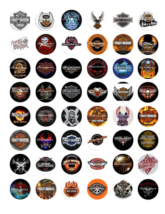 image regarding Printable Harley Davidson Logo titled Harley Davidson Symbol Printable Electronic Collage by way of