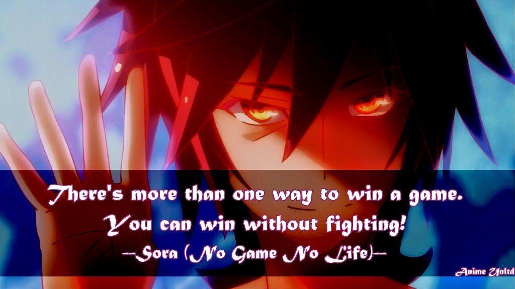 No Game No Life Sora Quotes Google Search No Game No Life