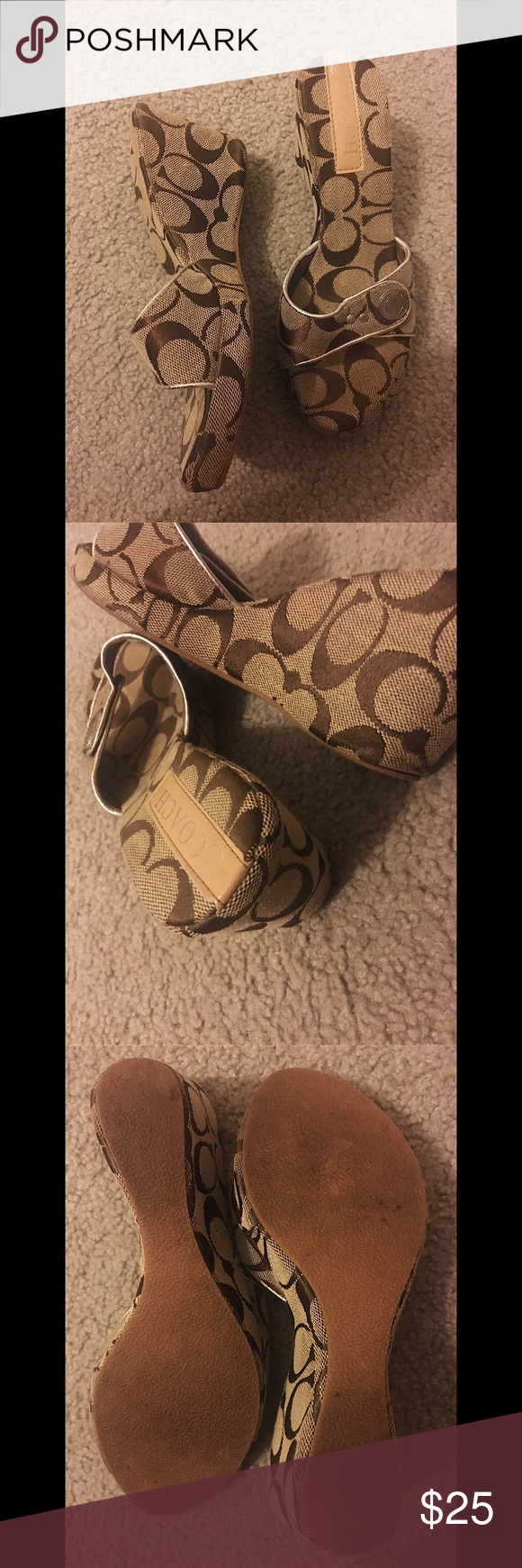 ‼️ Coach classic wedge Roughly 3 inches tall. No box. No major defect. NO TRADES 🙅🏻 ALL REASONABLE OFFERS ARE ACCEPTED 😊👍🏽 NO LOWBALLERS!!! 😒✌🏽️✌🏽 LET'S BUNDLE!!!! 🎋🎉🎁🎊🎈 Coach Shoes Wedges
